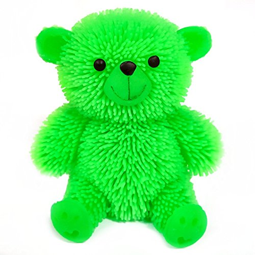 Flashing Puffer Teddy Bear Squidgy Sensory - Puffer Flashing