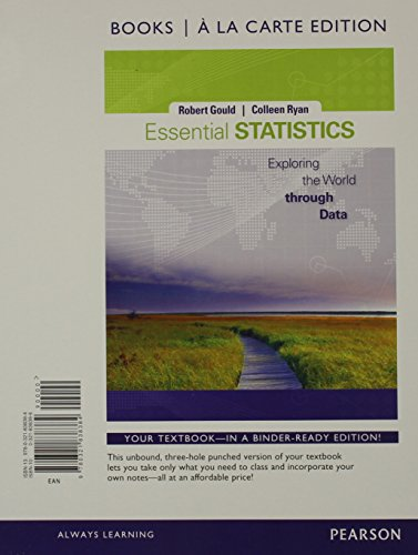 Essential Statistics, Books a la Carte Edition