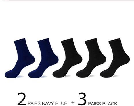 5 Pares de Calcetines de Negocios Casuales Hombre Calcetines de ...