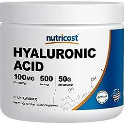 Nutricost Hyaluronic Acid Powder 50 Grams