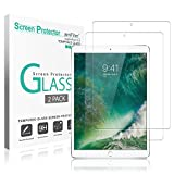 """Image of iPad Pro 10.5 inch Screen Protector Glass (2-Pack), amFilm Tempered Glass Screen Protector for Apple iPad Pro 10.5"""" 2017 with Camera Hole 0.33mm 2.5D Rounded Edge (2-Pack)"""