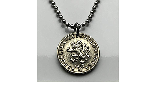 Czechoslovakia 1924-20 Haleru Copper-Nickel Coin Czech lion /& Slovak shield