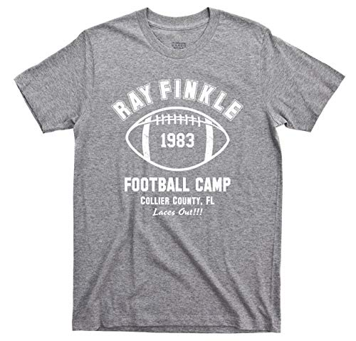 Ace Ventura T Shirt Pet Detective Ray Finkle Football Camp Laces Out Jim Carrey Movie Tee (Large, Sport Gray) ()