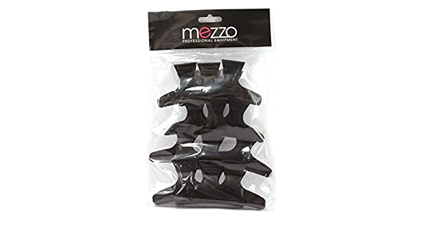 Mezzo: pinzas de cocodrilo para el pelo, negras, modelo grande, 12 unidades: Amazon.es: Salud y cuidado personal