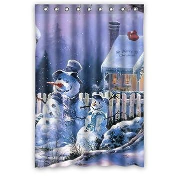 Amazon.com: Winterby Custom Cute Snowman Merry Christmas ...