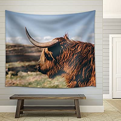 Animal of Cattle with Horn Fabric Wall - Tapestry