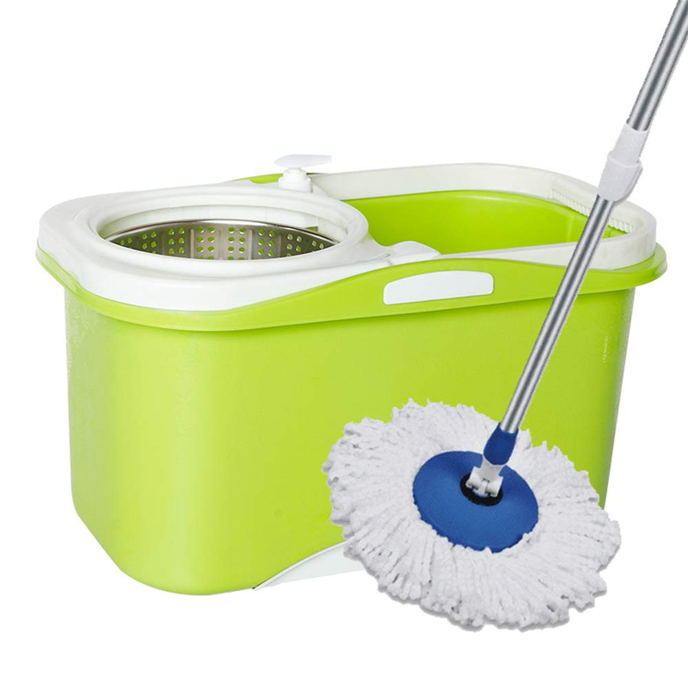Zhanghaidong Rotary Mop Bucket Household Hand-Washed Cotton Yarn Mop Head Cleaning Double Drive Mop Mop Bucket Set