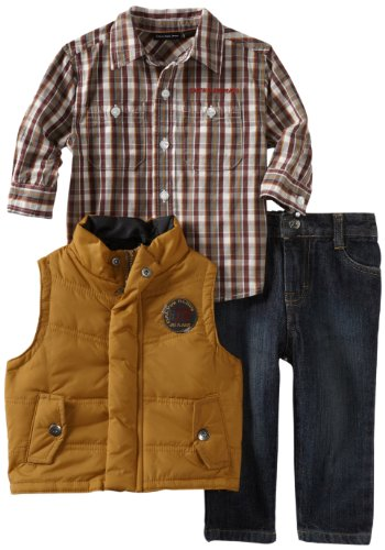 Calvin Klein Baby Boys' Vest With Woven Shirt And Jeans
