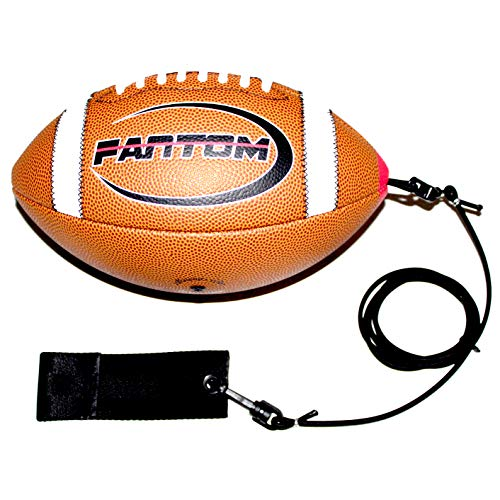 Fantom Throw Football Trainer - Direct Return Football Trainer - Practice Throwing & Catching Indoors/Outdoors (Junior (Junior High School - Ages 11+))