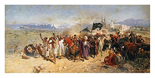 Global Gallery DP-265497-30 ''Nikolai Semenovich Samokish Shi'ite Muslims Commemorating The Martyrdom of Hussein'' Unframed Giclee on Paper Print, 14 1/4'' X 30'' by Global Gallery
