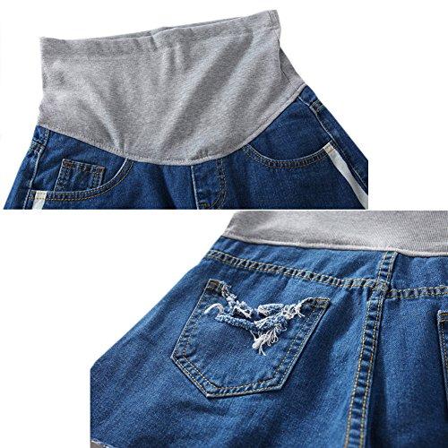 Maternit soutien Neuf Deylaying Jeans de Femme ventre Shorts lastique Denim Style12 Mode qOdzt
