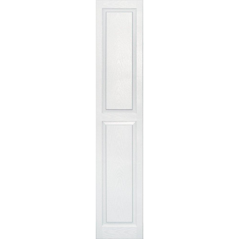 Vantage 3114075123 14X75 Raised Panel Shutter/Pair 123, White by Vantage