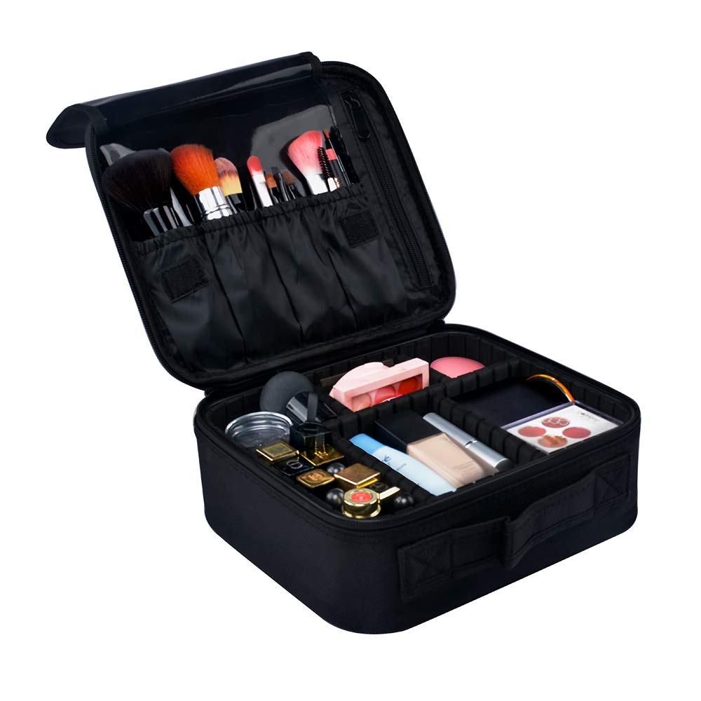 Travel Makeup Bag Cosmetic Case Multifunction Toiletry Storage With Adjustable Dividers