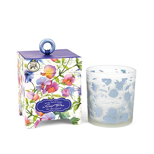 (Michel Design Works Gift Boxed Soy Wax Candle, 6.5-Ounce, Sweet Pea)