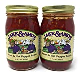 Jake & Amos Sweet & Hot Pepper Relish / 2 - 16 Oz. Jars