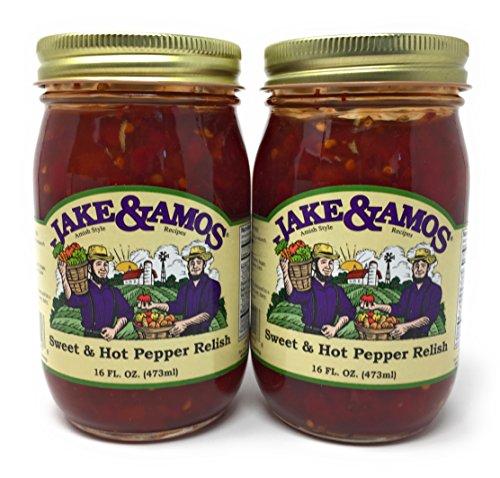 Jake & Amos Sweet & Hot Pepper Relish / 2 - 16 Oz. (Hot Relish)