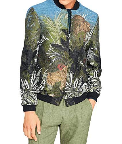 ETRO Men's 1S17710578000 Multicolor Cotton Outerwear Jacket - Etro Cotton Blazer