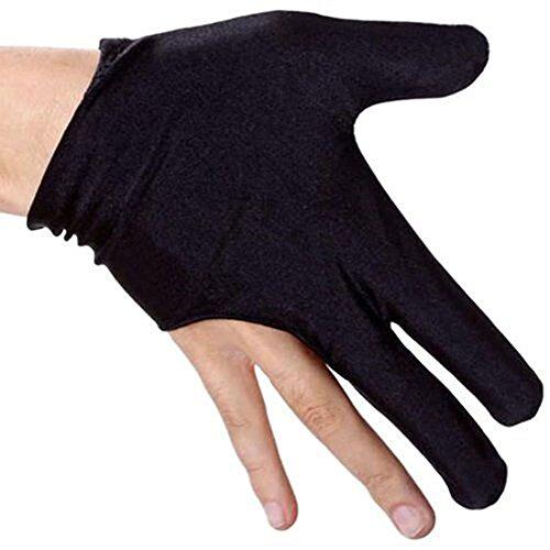 niceEshop(TM) 2Pcs x Billiards Pool Snooker Cue Shooters 3 Fingers Gloves-Black