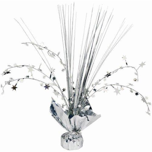 Silver Foil Spray Centerpiece   Party Decor ()