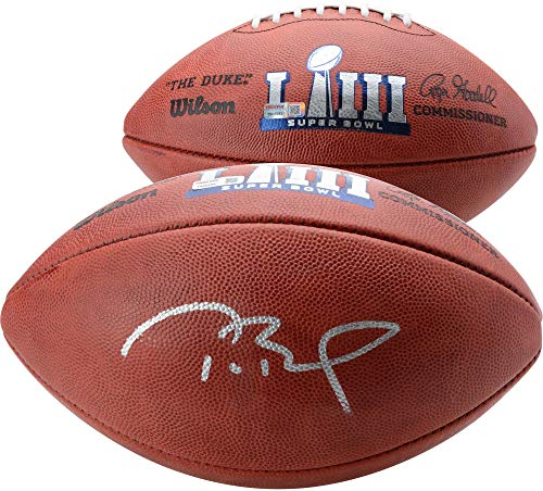 Tom Brady New England Patriots Autographed Super Bowl LIII Pro Football - TRISTAR - Fanatics Authentic Certified ()