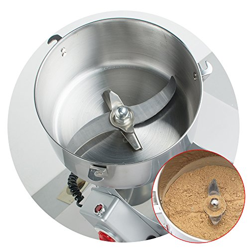 Genmine Electric Grain Grinder Mill Machine Commercial 1000g Kitchen Herb Spice Pepper Coffee Grinder Powder Swing Type for Herb Pulverizer Food Grade Stainless Steel (Shipping From USA) by genmine (Image #5)