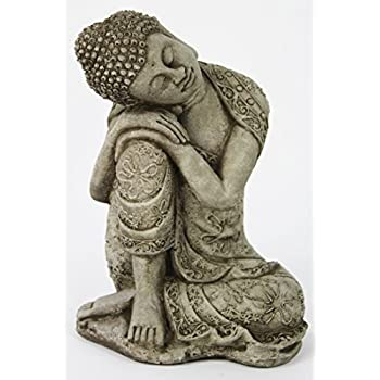 Thai Buddha Meditating Sitting Buddha Garden Statue Concrete Asian Statue  Chinese Outdoor Buddha Statuary Cast Stone