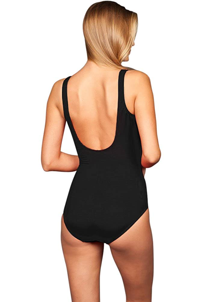 Miraclesuit Nightlight Plus Size Oceanus Surplice One Piece Swimsuit