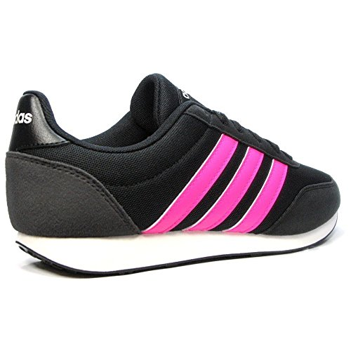 adidas NEO V Racer 2.0 BC0112 CORE BLACK/SHOCK PINK/CHALK WHITE (UK 4.5 EUR 37) ogtvErNI