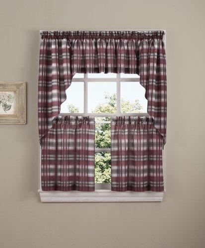[No. 918 Dawson Plaid Kitchen Curtain Tier Pair, 58