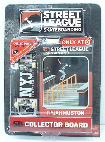 Street League Skateboarding Pro Series 1 Black Skateboard & Nyjah Huston Collector Card Target Exclusive ()
