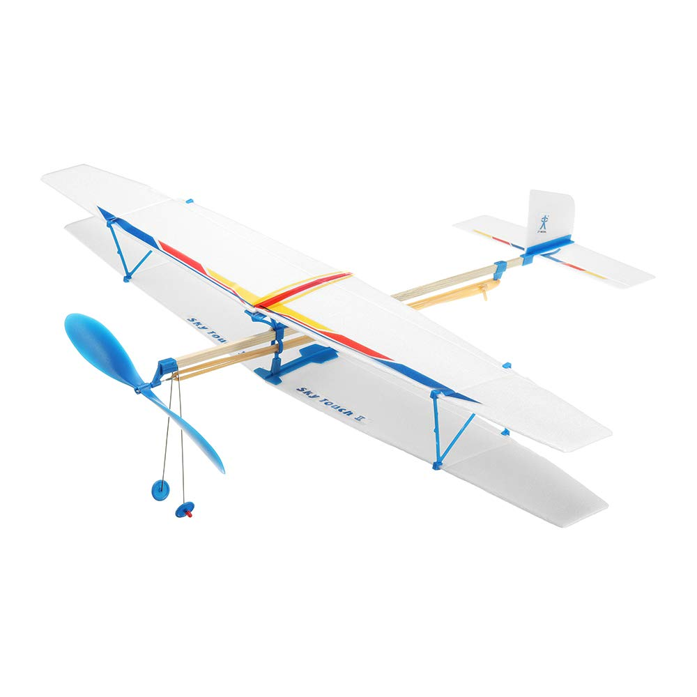 VIDOO Diy Assembly Aircraft Powered By Rubber Band For Kids