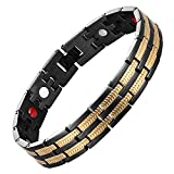 magnetic energy bracelet - chaninely Magnetic Bracelet Stainless Steel Energy Magnet Therapy Bracelets for Men Arthritis Wristband Pain 8.5