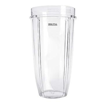 Gosear Accesorios de Pieza de Vaso de Repuesto de plástico Transparente de 24 oz Compatible con el exprimidor licuador Nutri Ninja 900W 1000W: Amazon.es