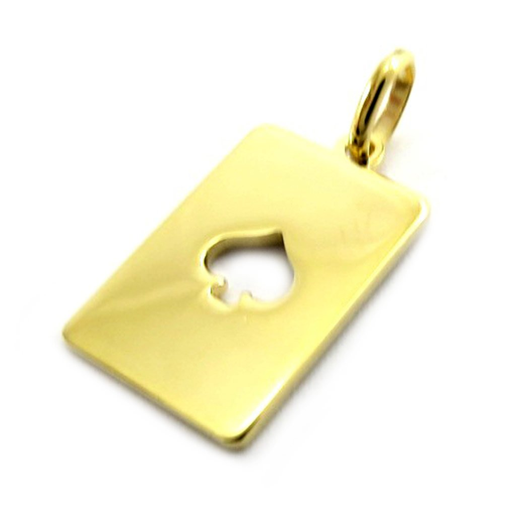 Pendant Pique plated gold.