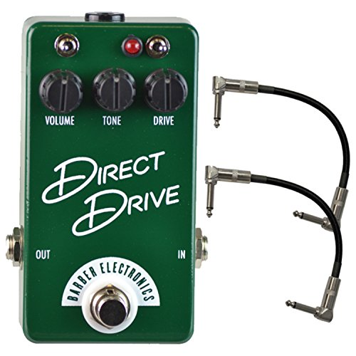 Barber Direct Drive Compact British Overdrive Pedal w/ 2 Free Cables -