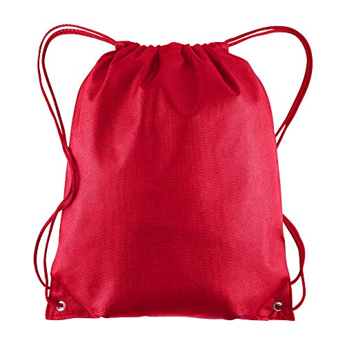 Pack of 25 - Non-Woven Promotional Drawstring Bags - Drawstring Backpack in BULK - String Backpack - String Bag - Drawstring Tote Bag - Cinch Bag - 13.5