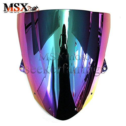 MSXmoto Windshield Windscreen Double Bubble For Kawasaki ZX636R ZX6R 2009 2010 2011 2012 2013 2014 ZX10R 2008 2009 2010 multicolor