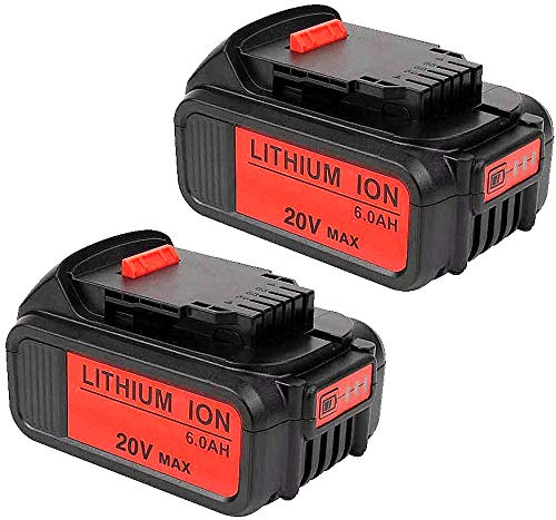 VANON 20V MAX 6.0Ah DCB200 Lithium Ion Replacement Battery Compatible with Dewalt 20V Battery DCB204 DCB205 DCB206 DCB205-2 DCB201 DCB203 DCB181 DCB180 20V DCD/DCF/DCG/DCS Series Tool