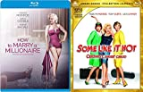 Monroe Millions Some Like it Hot + How to Marry a Millionaire Blu Ray Double Classic Feature Marilyn / Lemmon / Curtis