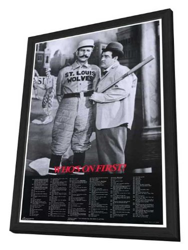 Abbott & Costello - Who's On First Framed Movie Poster