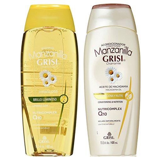 Manzanilla (Chamomille) Shine & Repair Shampoo & Silky & Shine Conditioner Set 400ml by Grisi