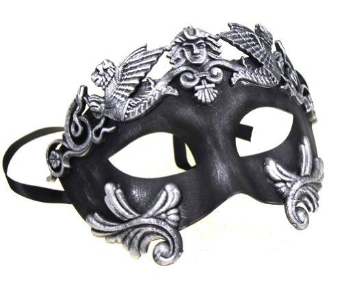 RedSkyTrader Mens Mythological Greek Style Party Mask One Size Fits Most (Venetian Pirate Mask)
