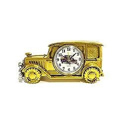 Desk Shelf Alarm Clock ROOVON Vintage Classic Antique Car Electronic Clock Desk Shelf Decoration for Kids Children Sports Fans Gift,Gold