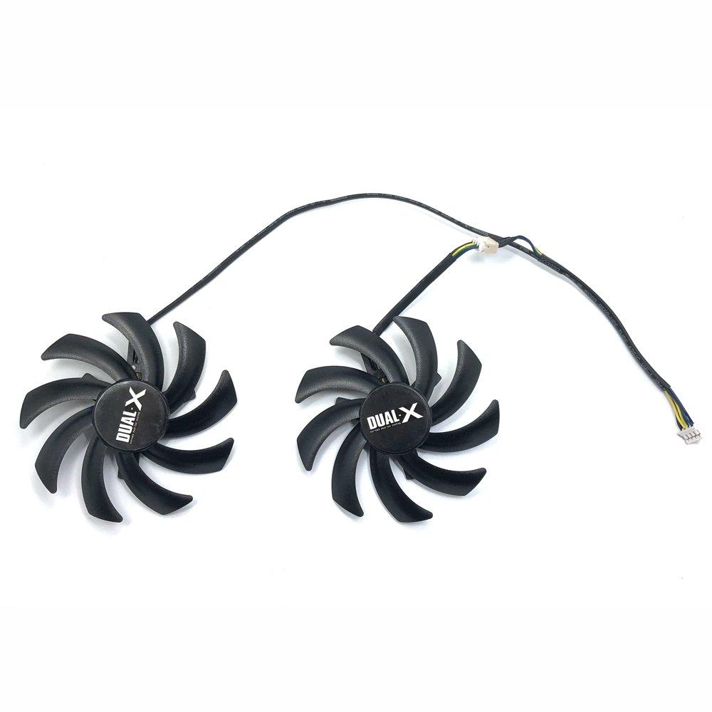 Ventilador Doble X para Sapphire HD7950 R9 270 X 280X HD7870 HD7950 HD7850 HD6850 PNY NVIDIA GTX 1070 inRobert FD7010H12S