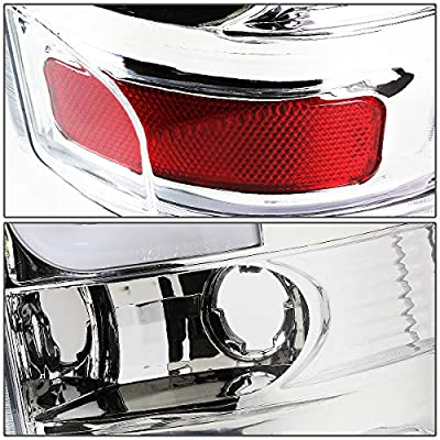 Replacement for Yukon/Suburban/Tahoe GMT 800 Pair of Chrome Housing Clear Lens LED Brake Tail Lights: Automotive