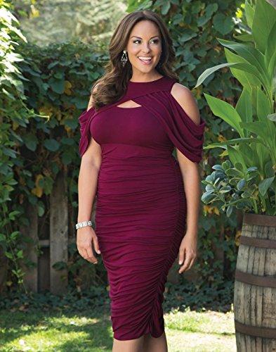Kiyonna Women's Plus Size Bianca Ruched Dress