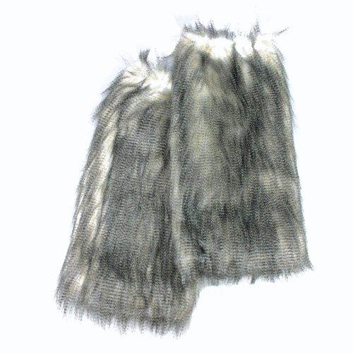 Irregular Choice - Botas de Piel sintética para mujer gris snow leopard Talla única