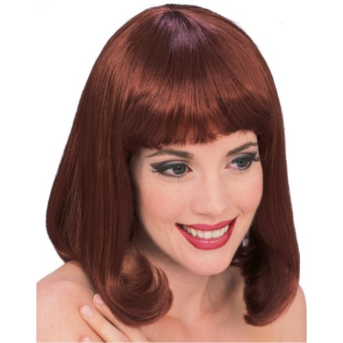 [Rubie's Costume Auburn Peggy Sue Wig, Red, One Size] (50s Wig)