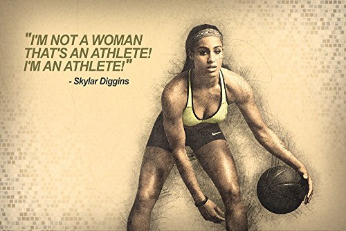 Skylar Diggins Female NBA Basketball Quotes for Girls Poster