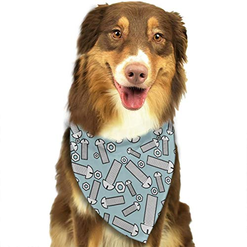 CWWJQ88 Iron Bolts and Nuts Pattern Pet Dog Bandana Triangle Bibs Scarf - Easy to Tie On Your Dogs & Cats Pets Animals - Comfortable and Stylish Pet Accessories]()
